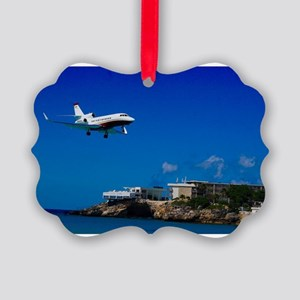Maho Beach Picture Ornament