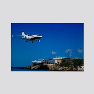 Maho Beach Rectangle Magnet