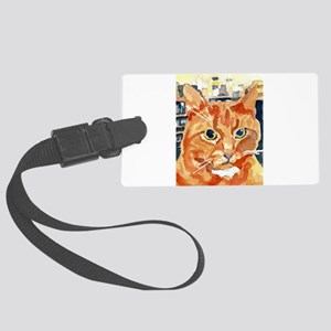 Ginger Tom Cat Luggage Tag