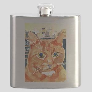 Ginger Tom Cat Flask