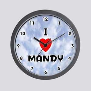 I Love Mandy (Black) Valentine Wall Clock