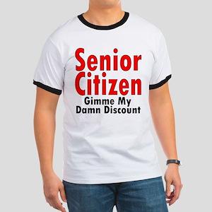 Senior Citizen Discount Ash Grey T-Shirt