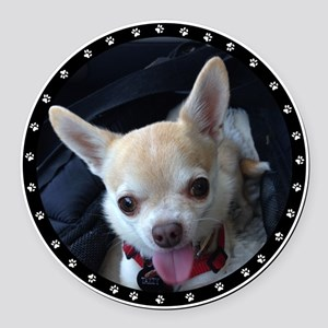 Personalized Paw Print Round Car Magnet