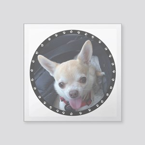 "Personalized Paw Print Square Sticker 3"" x 3"""