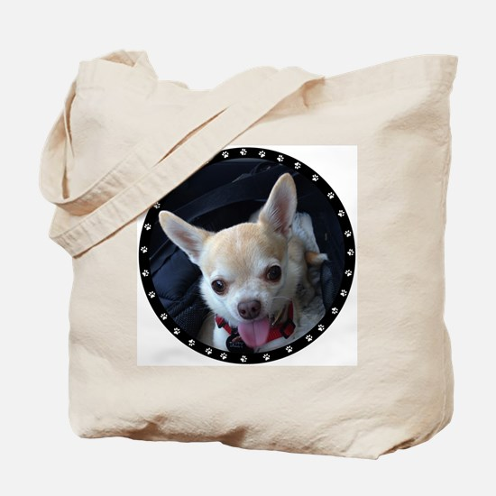 Personalized Paw Print Tote Bag