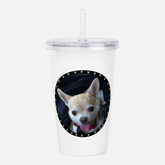 Personalized Paw Print Acrylic Double-wall Tumbler