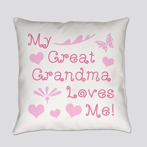 GreatGrandma Loves Me Everyday Pillow