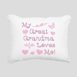 GreatGrandma Loves Me Rectangular Canvas Pillow