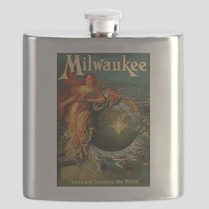 Milwaukee Feeds World Flask