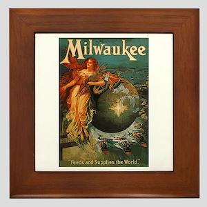 Milwaukee Feeds World Framed Tile