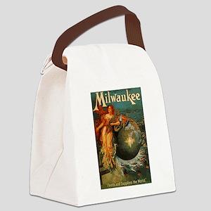 Milwaukee Feeds World Canvas Lunch Bag