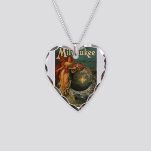 Milwaukee Feeds World Necklace Heart Charm