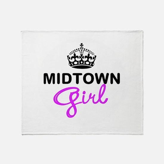 Midtown Girl Throw Blanket
