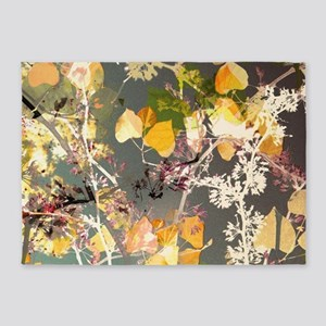 Autumn Leaves. 5'x7'Area Rug