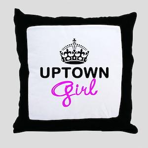 Uptown Girl Throw Pillow