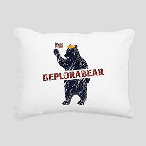 Deplorabear Trump Rectangular Canvas Pillow