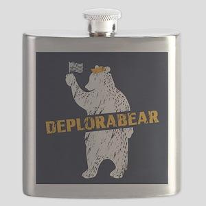 Deplorabear Trump Flask