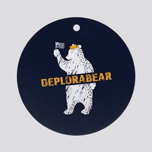 Deplorabear Trump Round Ornament