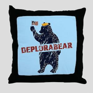Deplorabear Trump Throw Pillow