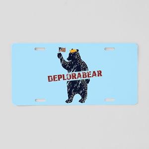 Deplorabear Trump Aluminum License Plate