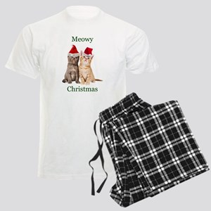 Meowy Christmas Kitten Shirt Pajamas