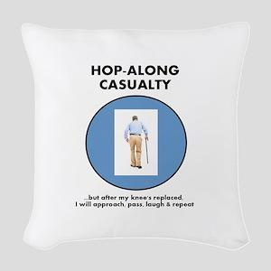 Hopalong Casualty till Knee R Woven Throw Pillow