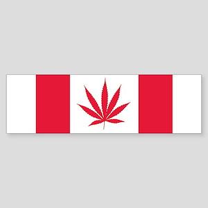 Cannabis Canadian Flag Bumper Sticker