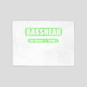 Basshead Life Begins@ 150db's Green 5'x7'Area Rug
