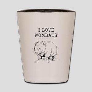 I Love Wombats Shot Glass