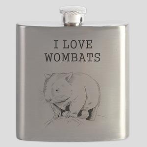 I Love Wombats Flask