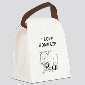 I Love Wombats Canvas Lunch Bag