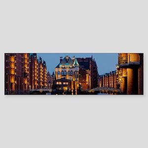 Wasserschloss Speicherstadt Hamburg Bumper Sticker