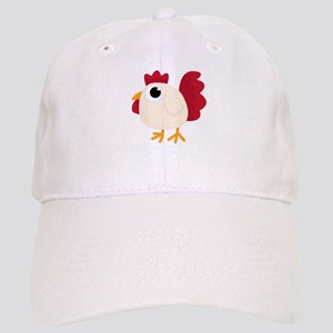 Funny White Chicken Baseball Cap