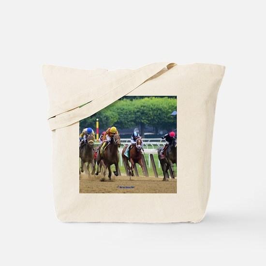 Cute Horse racing Tote Bag
