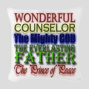 Wonderful Counselor Woven Throw Pillow