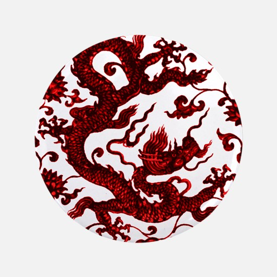 Chinese Red Dragon Button