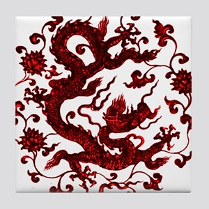 Chinese Red Dragon Tile Coaster
