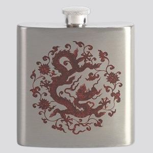 Chinese Red Dragon Flask