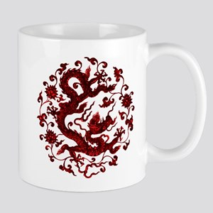 Chinese Red Dragon Mugs