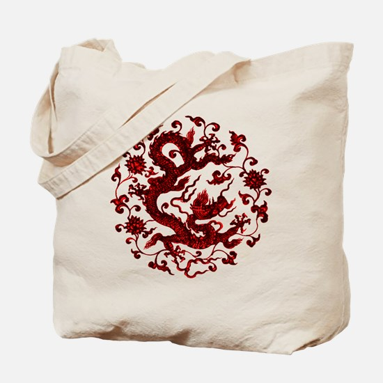 Chinese Red Dragon Tote Bag