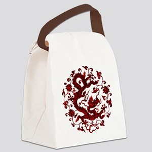 Chinese Red Dragon Canvas Lunch Bag