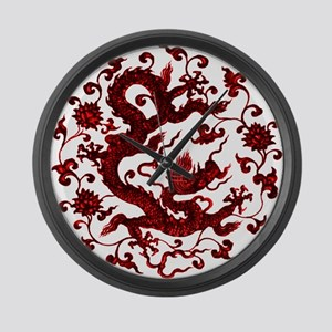Chinese Red Dragon Large Wall Clock