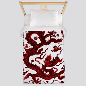 Chinese Red Dragon Twin Duvet