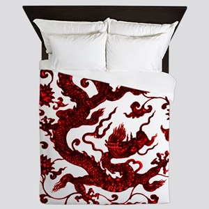 Chinese Red Dragon Queen Duvet
