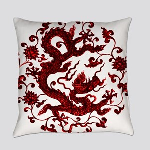 Chinese Red Dragon Everyday Pillow