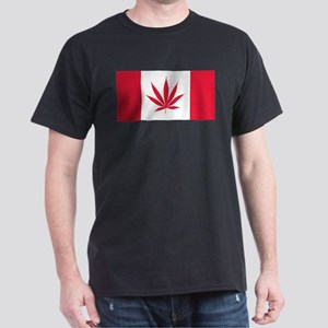 Cannabis Canadian Flag T-Shirt