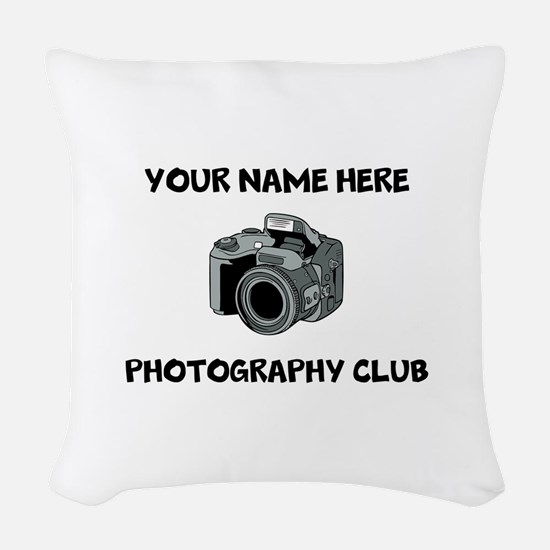 Photography Club Woven Throw Pillow