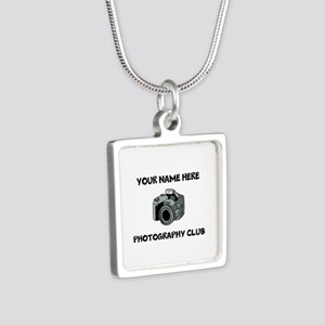 Photography Club Silver Square Necklace