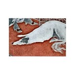 Art Deco Borzoi Magnets