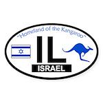 Israel Oval Auto Sticker